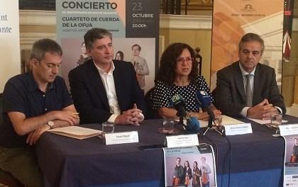 Aguas de Alicante commemora el seu 121 Aniversari amb un concert al Teatre Principal a càrrec del Quartet de Corda de l'OFUA