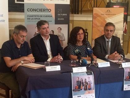 Aguas de Alicante celebra su 121 Aniversario con un concierto en el Teatro Principal a cargo del Cuarteto de Cuerda de la OFUA