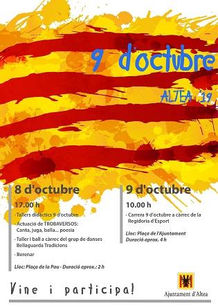 La tradicional carrera, danzas, música y poesía centran las actividades del 9 d'Octubre en Altea