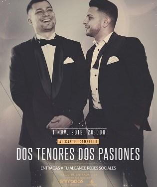 """Turisme de El Campello presenta """"Dos tenores Dos pasiones"""" en la inigualable Villa Marco"""