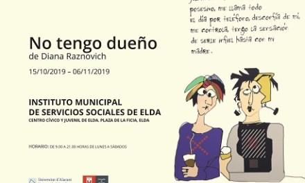El Centre Cívic i Juvenil d'Elda acull l'exposició 'No tengo dueño' que denuncia la violència de gènere