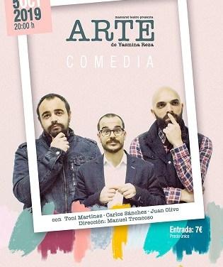 """""""Arte"""" una comèdia dramàtica amb enorme èxit en el Auditori de la Mediterrània de La Nucia"""