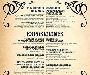 Exposicions i presentacions de llibres en la tercera edició de Novelda Modernista