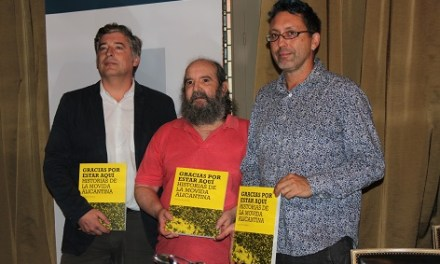 """José María Esteban recoge las historias de la movida alicantina en su libro """"Gracias por estar aquí"""""""