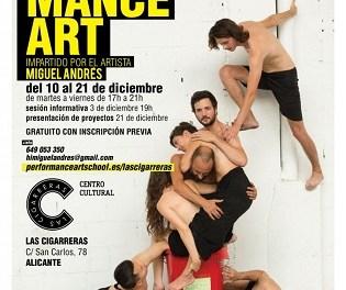 L'Ajuntament d'Alacant organitza un seminari de 'performance art' per a acostar l'art contemporani a els-les alacantins-es