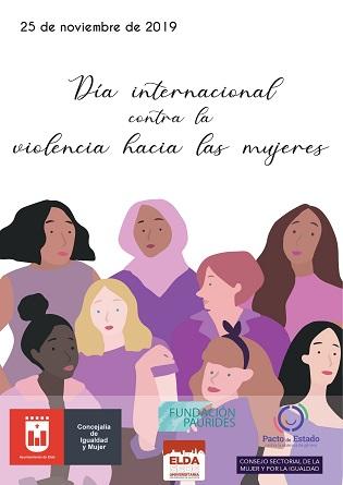 Elda se suma al 'Día Internacional contra la Violencia hacia las Mujeres' con un programa de charlas, talleres, exposiciones y representaciones teatrales