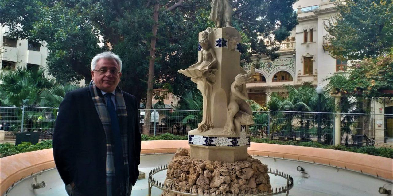 L'Ajuntament finalitza la restauració de la font de l'Aiguadera de la ciutat d'Alacant