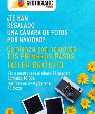 """Taller gratuito sobre """"Tus primeros pasos en la fotografía"""" organizado por el Grup Fotogràfic de Petrer"""