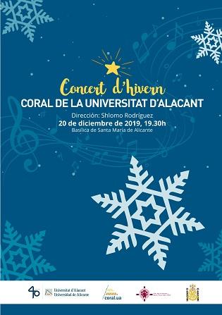 Comienza el ciclo de Conciertos de Invierno de la Coral de la Universidad de Alicante en Monforte del Cid y Alicante