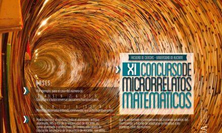 Pi, e o phi, nombres per a crear microrelats matemàtics en l'XI Concurs de Microrelats Matemàtics de la Universitat d'Alacant