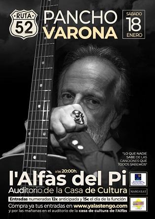 Pancho Varona recala aquest dissabte a l'Alfàs del Pi amb el seu espectacle 'Ruta 52'