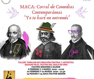 El MACA presenta el taller «Corral de Comedias Contemporáneas-Yo te haré un entremés, dentro del FICTA 2020»