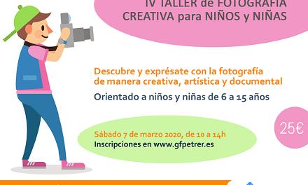El Grup Fotogràfic de Petrer organiza el IV Taller de Fotografía creativa para niños y niñas