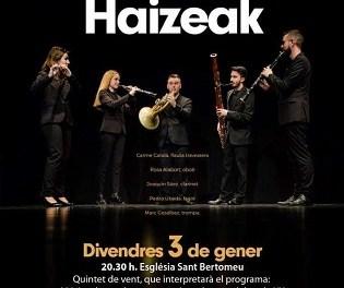Concierto de Haizeak Ensemble en la Iglesia de San Bartolomé de Xàbia