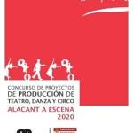 """La Concejalía de Cultura de Alicante convoca el concurso para la creación de tres producciones inéditas de teatro, danza o circo que formarán parte de la programación de la muestra """"Alacant a Escena 2020"""""""