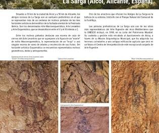 El arte rupestre de La Sarga en Alcoy se promociona en la revista Patrimonio Mundial de la Unesco a nivel internacional