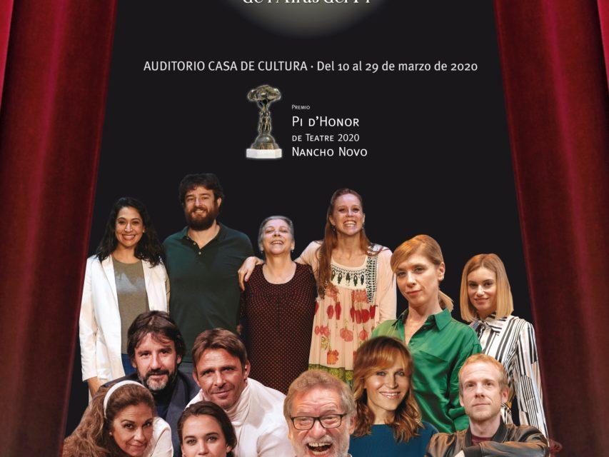 Nancho Novo serà guardonat amb el 'Pi d'Honor de Teatre 2020' de l'Alfàs