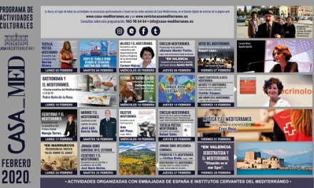 Un febrero literario protagoniza la programación de actividades de Casa Mediterráneo