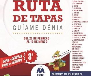Dénia celebra una nova Ruta de Tapes del 20 de febrer al 15 de març