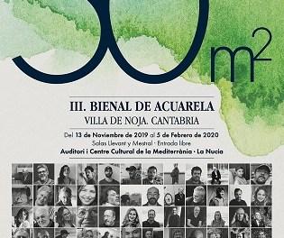 Clausura de la III Biennal d'Aquarel·la 50 m² a La Nucia, primer municipi que va rebre aquesta gran exposició
