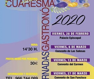 Oriola acollirà la tercera edició de les Jornades Gastronòmiques de Quaresma durant els divendres del 28 de febrer al 3 d'abril