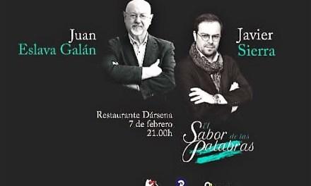 Los novelistas Javier Sierra y Juan Eslava Galán en Alicante