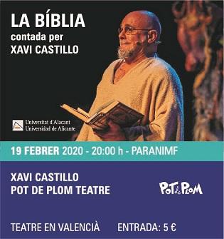 La Biblia contada por Xavi Castillo llega al Paraninfo de la UA