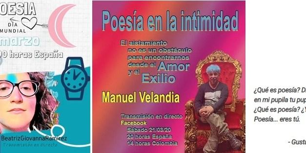 Beatriz Giovanna i Manuel A. Velandia reciten en el Dia Mundial de la Poesia