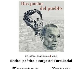 """Este jueves se presentará en Callosa de Segura el libro """"Miguel Hernández y Francisco Salinas: dos poetas del pueblo"""""""