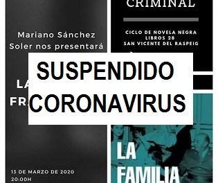 Ciclo Negroni y Criminal: Mariano Sánchez Soler