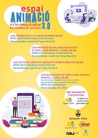 La concejalía de Juventud de Alcoy presenta un plan de formación de animación juvenil en línea
