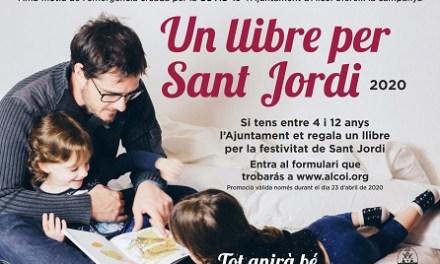 El ayuntamiento regala un libro por San Jorge 2020 para la infancia de Alcoy