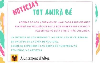 Participació Ciutadana i Comerç anuncien una exposició amb tots els cartells del concurs pictòric 'Tot anirà bé'