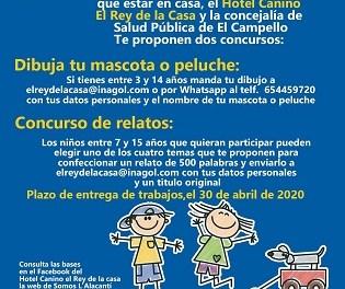 """El hotel canino """"El Rey de la Casa"""" y la Concejalía de Salud Pública de El Campello convocan un concurso de dibujos y relatos infantiles sobre las mascotas"""