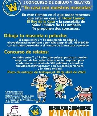 """L'hotel caní """"El Rei de la Casa"""" i la Regidoria de Salut Pública del Campello convoquen un concurs de dibuixos i relats infantils sobre les mascotes"""