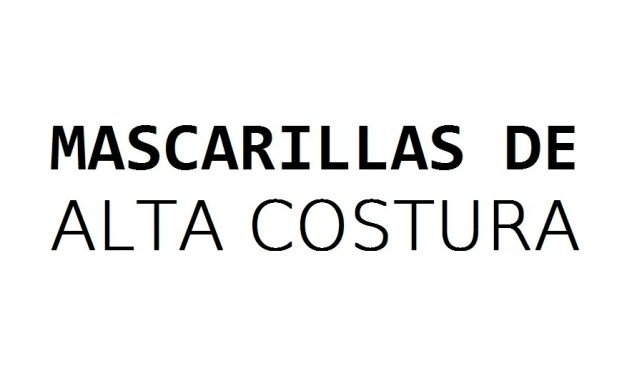 Mascarillas de alta costura