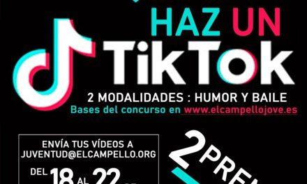 """""""Haz un tik tok sobre el confinamiento"""": nuevo concurso de humor y baile de la concejalía de Juventud de El Campello"""