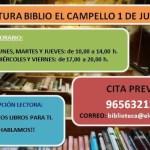 La Biblioteca Municipal de El Campello abre mañana lunes sus puertas con horarios alternos