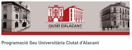 Programación semanal de la Sede Universitaria de la ciudad de Alicante