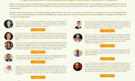 La Universidad de Alicante reúne a expertos para debatir sobre el futuro del turismo y la gastronomía tras la COVID-19