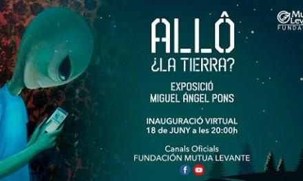 Inauguración en Alcoy de la exposición «Allô, ¿la Tierra?» de Miguel Ángel Pons