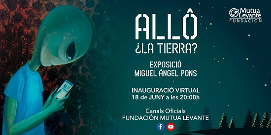 Inauguració a Alcoi de la exposició «Allô, la Terra?» de Miguel Ángel Pons