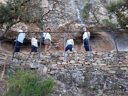 Finalitzen les obres d'accessibilitat al voltant de les pintures rupestres de la Sarga a Alcoi