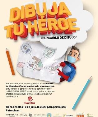 Arcovi pone en marcha un concurso de dibujo para ayudar a las familias más afectadas por la Covid-19 acompañadas por Cáritas