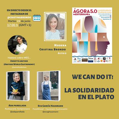 VIII Encuentro Ágora Mediterránea 5.0, la solidaridad en el plato, el próximo 23 de junio