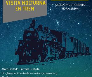 Visita nocturna gratis en tren a Mutxamel