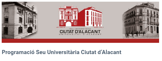 Programación semanal de la Sede Universitaria ciudad de Alicante