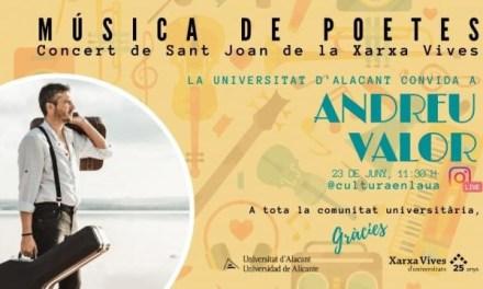 La Universitat d'Alacant se suma al Concert Universitari 'Música de poetes' per a celebrar el dia de Sant Joan