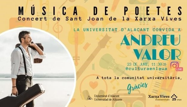 La Universidad de Alicante se suma al Concierto Universitario «Música de poetes» para celebrar el día de San Juan