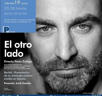 "Ernesto Pérez Zúñiga, Premi Nacional Cultura Viva 2019, presenta a la Casa de Cultura de Villena la seua antologia ""El otro lado"""